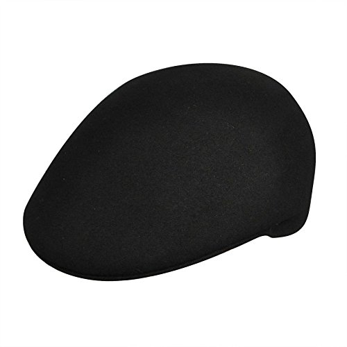 Country Gentleman Men's Cuffley Ivy Cap with Firm Shape Retention, Black, L (Cap Cuffley)