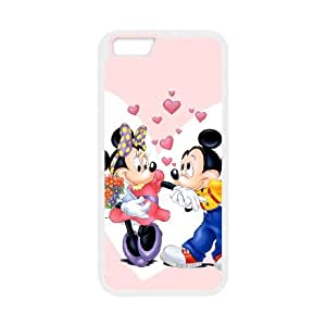 Disney Mickey Mouse Minnie Mouse iPhone 6 Plus 5.5 Inch Cell Phone Case White 218y-927683