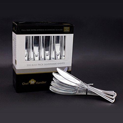 Heavy Duty Plastic Knives - Plastic Silverware Cutlery 200 C