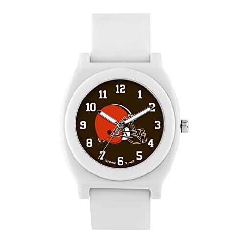 NFL Cleveland Browns Mens Fan Series Wrist Watch, White, One Size