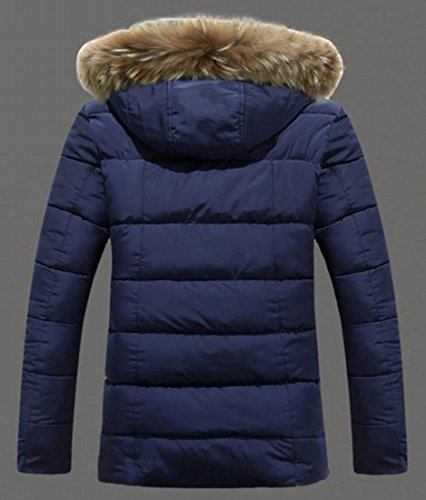Coat Thicken Slim 1 Hooded Faux Men Fur TTYLLMAO Warm Padded Down gqxH7wvAn