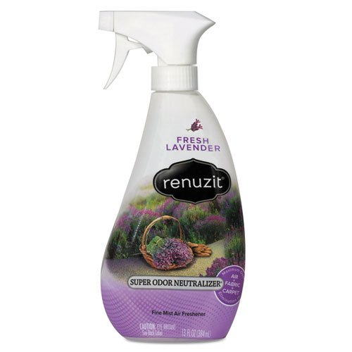 Renuzit Super Odor Neutralizer Spray, Fresh Lavender, 13 Oz Spray Bottle, - Neutralizer 13 Ounce Odor