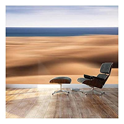 Blurred Out Desert with Ocean peaking on The Background - Landscape - Wall Mural, Removable Sticker, Home Decor - 66x96 inches
