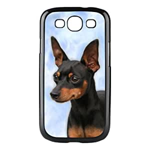 Custom Miniature Pinscher Dog Hard Case Clip on Back Cover for Samsung S3 9300