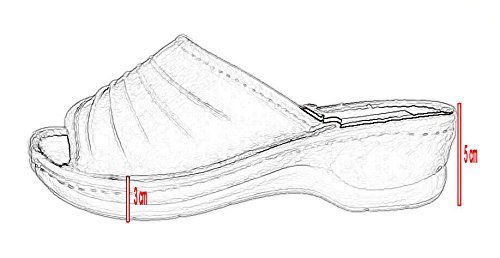 cuir Marron Clair en Véritable pour avec différentes Tongs orthopédiques Insole couleurs Chaussons femmes P54q4HW7
