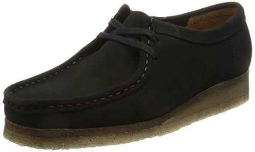 Clarks Originals Wallabee Damen Bas Chaussures De Sport Haut Schwarz (noir)
