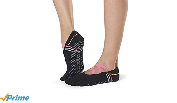 Toesox Grip Pilates Barre Socks-Non Slip Elle Full Toe For ...