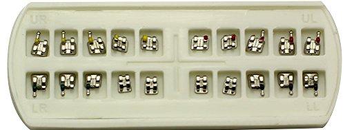 20 sets Dental Orthodontic Metal Bracket MIM Mini ROTH 022 3 4 5with Hooks