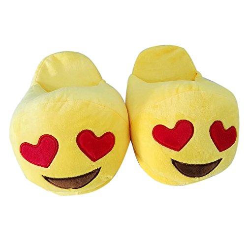 Emoji Emoticon Zapatillas Cómodo Térmica Vellocino Invierno Casa Zapatos Seyan