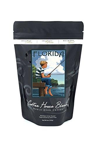 Florida - Boy Fishing (8oz Whole Bean Small Batch Artisan Coffee - Bold & Strong Medium Dark Roast w/ Artwork) for $<!--$14.99-->