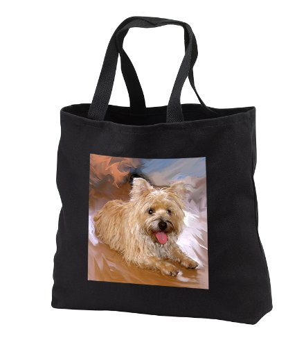 Dogs Cairn Terrier - Cairn Terrier - Tote Bags - Black Tote Bag 14w x 14h x 3d (tb_4466_1)