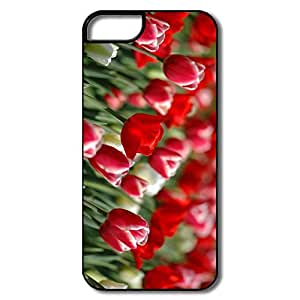 IPhone 5S Cases, Red Tulips White/black Cases For IPhone 5S