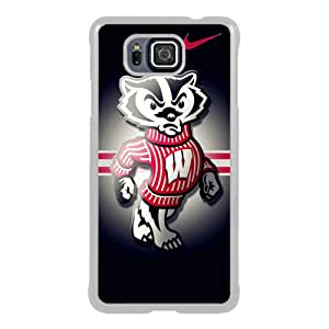 PAN Personalized Design Wisconsin Badgers 02 White Samsung Galaxy Alpha Case