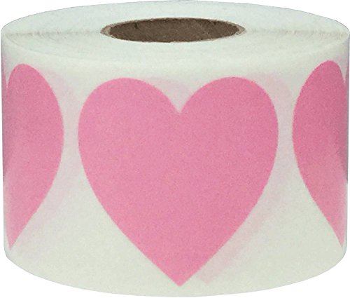 (Pink Heart Stickers Valentine's Day Crafting Scrapbooking 1.5 Inch 500 Adhesive Stickers)