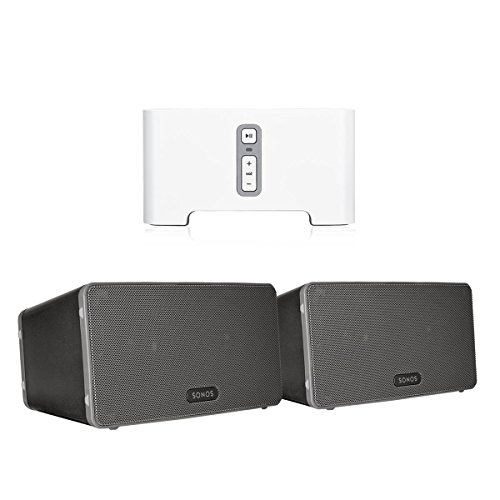sonos-connect-wireless-receiver-for-streaming-music-bundle-sonos-play3-wireless-speaker-pair-black