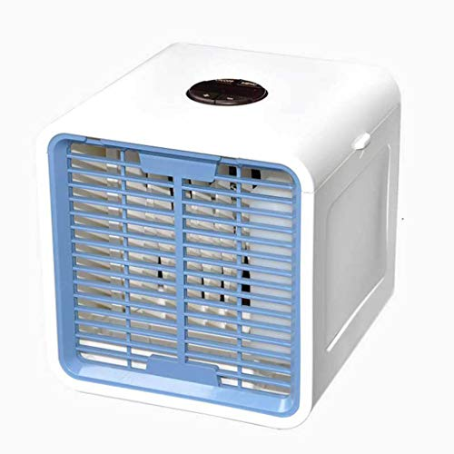 LiboboPortable Small Fan Air Cooling System Household Office Lighting LED Air Cooler (A)