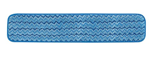 Rubbermaid Commercial Products Microfiber Damp Mop Pad, 24-inch, Blue (FGQ41100BL00)