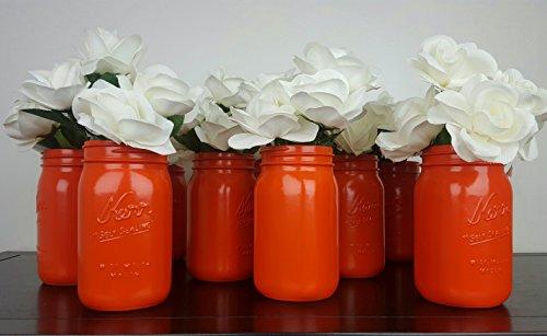 Lot Mason Jars Orange Bride ()