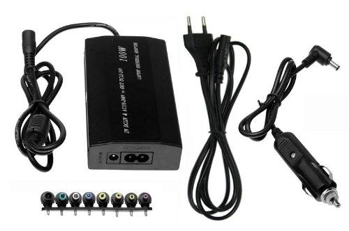 100 W 12 V-24 V Universal 2 en 1 Charger AC DC adaptador, cargador de coche, ultra slim 8 conectores + USB Port. Can Be used at home, office, Car, Airplain.