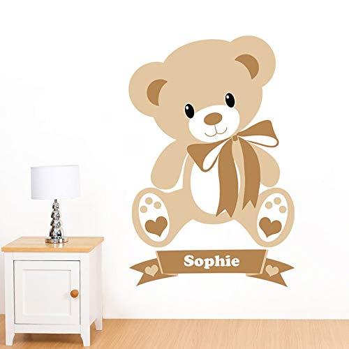 - BYRON HOYLE Personalised Children's Name Teddy Bear Mural Wall Sticker - Nursery Art Vinyl Decal Transfer