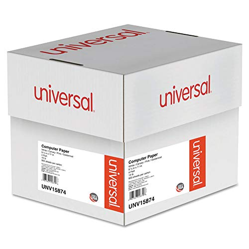 Universal 15874 Multicolor Paper, 4-Part Carbonless, 15lb, 9-1/2 x 11, Perforated, 900 Sheets