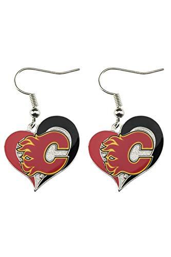 NHL Calgary Flames Swirl Heart - Calgary Flames Heart