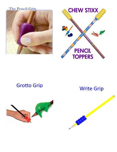Pencil Grip, Grotto Grip, Write Grip, Chew Stixx Pencil Topper Ultimate Combo