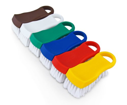 "New Star Foodservice 34042 Cutting Board Brushes, 6"" x 2.5"" x 2"", Multicolor"