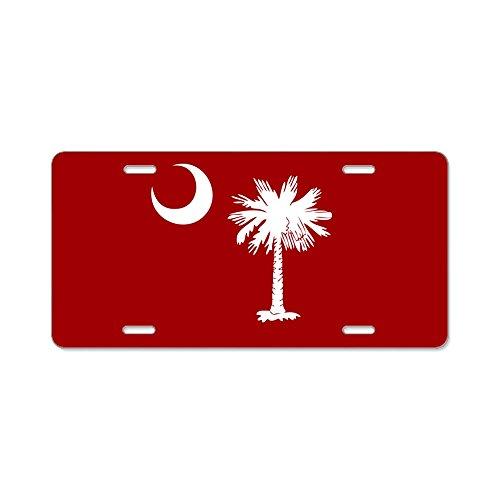 CafePress - SC Palmetto Moon Aluminum License Plate - Aluminum License Plate, Front License Plate, Vanity Tag]()