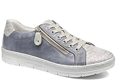 Remonte D5800 Womens Casual Lace Up Shoes 39 shark/jeans/silver CF7Ne