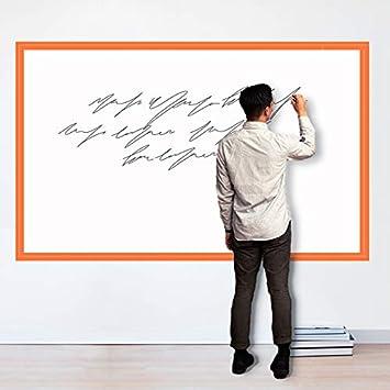 Magjump Whiteboard, pizarra de bricolaje ferrosa Tablero de borrado en seco autoadhesivo para vinilos decorativos de pared Rollo de pizarra extraíble ...