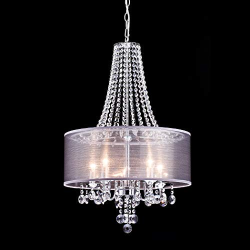 (CLAXY Ecopower Lighting Modern Chrome Crystal Chandeliers -5 Lights)