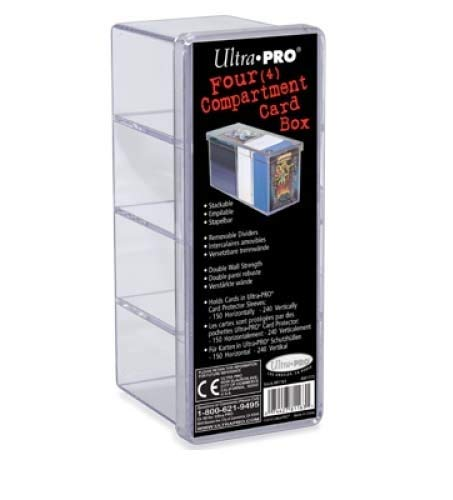 Ultra Pro 4-Compartment Clear Card Box Ultra PRO Sports 81163