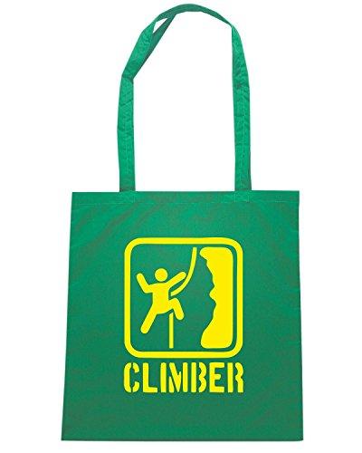 T-Shirtshock - Bolsa para la compra SP0048 Climber Maglietta Verde