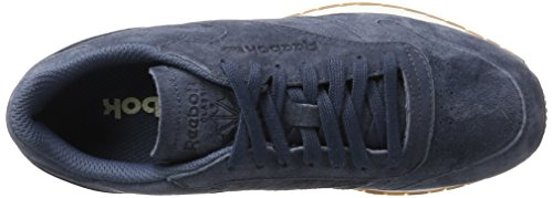 Reebok Cl Leather SG, Scarpe da Fitness Uomo Grigio (Smoky Indigo/Chalk-gum)