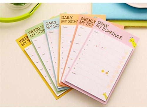 ufficio Animal Sticky note per classificazione settimanale messaggio note (multicolore), scuola blueqier