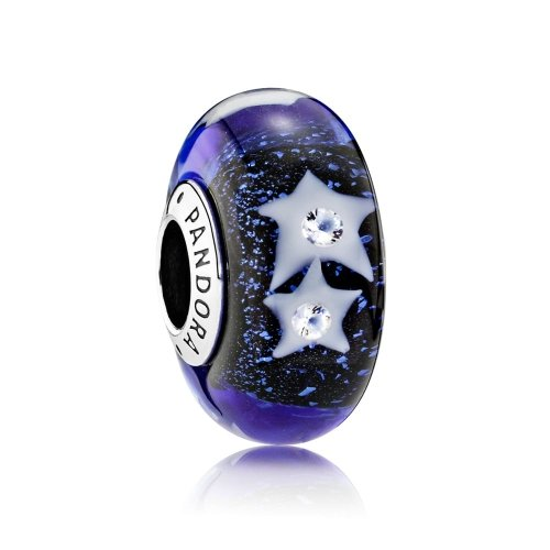 Pandora Charm Bead 791662CZ Woman Silver Starry Sky