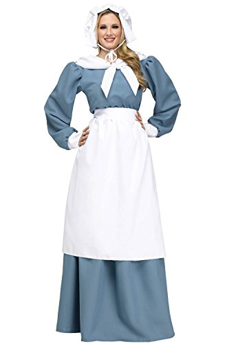 Pilgrim Lady Adult Costume, Small/Medium (Colonial Day Costumes)