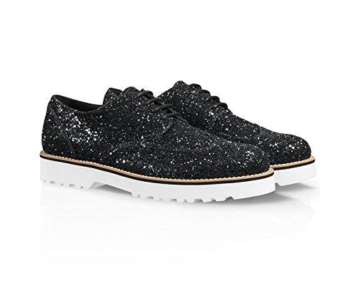 HXW2590S112L04B999 Cuir Hogan Femme Chaussures À Noir Lacets 5vvFw
