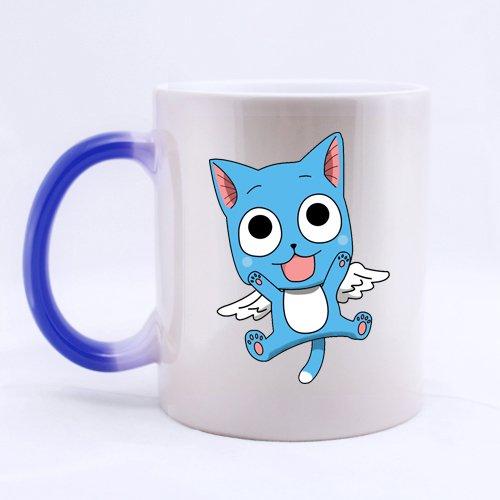 Japan Anime Cartoon Fairy Cute Happy Custom Blue Morphing Coffee Mug Tea Cup 11 OZ Office Home Cup (Printed on two sides)