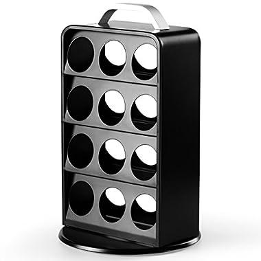 Coffee Pod Holder, Oak Leaf Keurig K Cup Holder Carousel Tower Storage Display Rack Holds 24 K-cup Packs