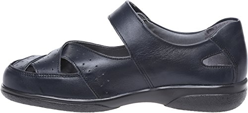 Marine Chaussures Supplémentaire Largeur Spacieux Eeeee raccord Cuir Cosyfeet Shelley Bleu zxqzrOwfCK