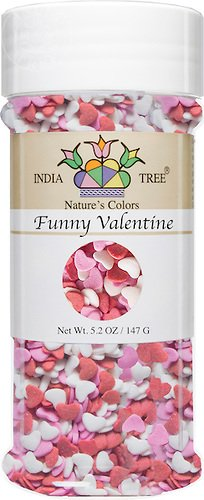 India Tree Nature's Colors Funny Valentine Decoratifs Jar, 5.2 - Hearts Rainbow Colored