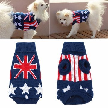 Dog - Union Jack Flag Blanket Pillow Furniture Souvenir Chair Sofa Sticker Dress Mini Cooper Cushion Harness American Medium Sweater Large Dogs Clothes - Dog For - 1PCs (Souvenir Cooper Mini)