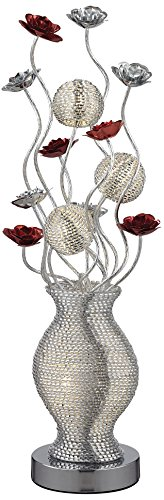 Dimond Lighting D2720 Flute LED Contemporary Floral Table Lamp, Silver from Dimond Lighting