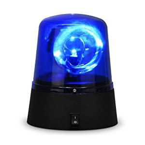 novelty party disco battery operated rotating blue led. Black Bedroom Furniture Sets. Home Design Ideas