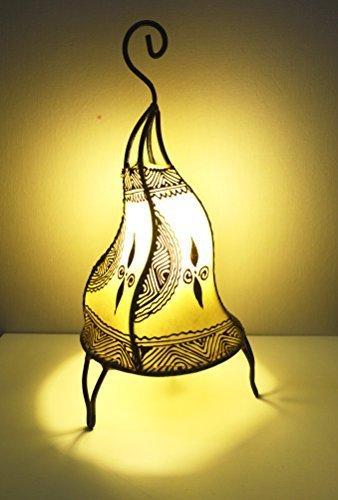 Lampara de mesa marroquí de henna redonda con forma de S color ...