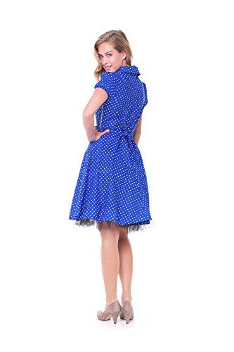 Alpenmärchen nbsp;robe nbsp;pour Femme Pois Petit Bleu nbsp;– nbsp;– rBS5nqwr