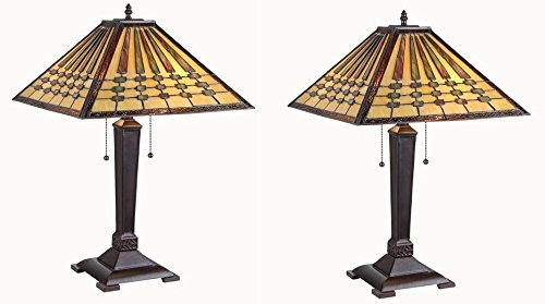 ティファニースタイルステンドグラステーブルランプ B071P92K98