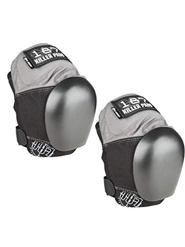 - 187 Killer Pads Pro Derby Knee Pad Grey-Black (Large)